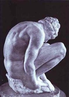Michel-Ange  Homme à genoux