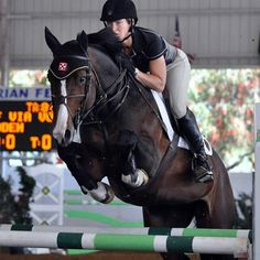 Beezie Madden and Coral Reef Via Volo are one of the #USET #showjumping team members.