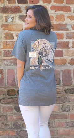 Gun Dog Three | Lakeside Cotton Lakeside Cotton, Marley Lilly, Southern Marsh, Monogram Gifts, Jewelry Gifts, Gun, T Shirts For Women, Dogs, Unique
