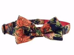 This gorgeous Garden Floral adjustable dog collar includes a removable bow/bow tie Use it as a bow tie for a male dog or place at the side or na Bow Bow, Bow Tie Collar, Apparel Design, Pet Dogs, Collars, Cute Animals, How To Remove, Mesh, Bows