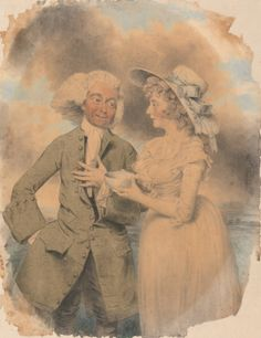 """John Edwin and Mrs. Mary Wells as Lingo and Cowslip in """"The Agreeable Surprise"""". Yale Center for British Art, Paul Mellon Collection."""