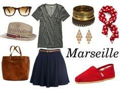 Honeymoon outfits via sartoriography.wordpress.com: Marseille