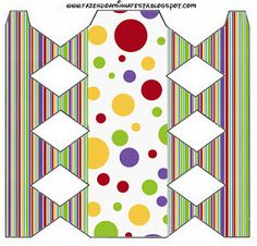 Colorido – Kit Completo com molduras para convites, rótulos para guloseimas, lembrancinhas e imagens! |Fazendo a Nossa Festa
