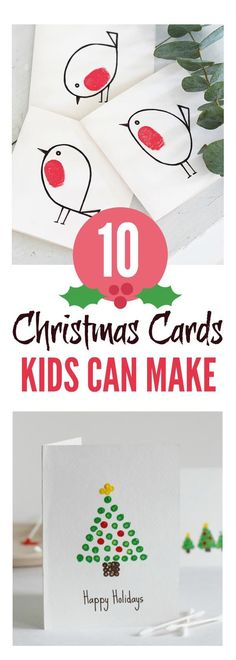 Christmas cards kids can make #christmascards