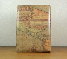 10 Feet Old World Map Kraft Wrapping Paper by PaperAndPresent