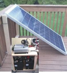 Small Home / Apt. Solar Electricity, & Save Money : 5 Steps (with Pictures) - Instructables Solar Power Energy, Solar Energy Panels, Solar Energy System, Small Solar Panels, Best Solar Panels, Sistema Solar, Solar Roof Tiles, Solar Projects, Energy Projects