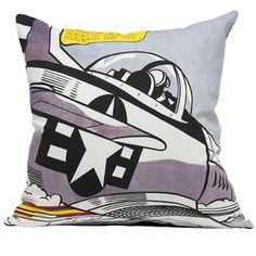 Lichtenstein - Whaam! plane cushion cover