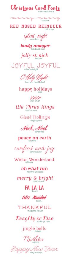 25 Free Christmas Card Fonts