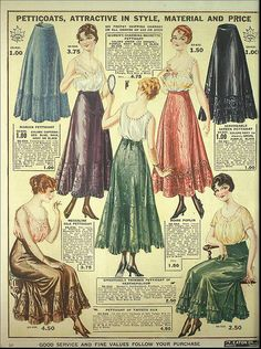 1917-18 T.Eaton Co.  -petticoats