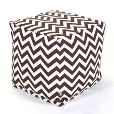 Majestic Home Goods Chocolate Zig Zag Cube, Small