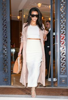Kim Kardashian nude and white outfit. Going to try this