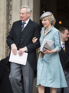 Prince Richard, Duke of Gloucester, the Queen's first cousin and his wife Birgitte, Duchess of Gloucester