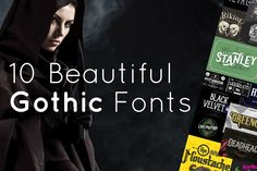 10 Beautiful Gothic Fonts to Add Classic Elegance to Your Designs #fonts #gothicfonts #gothicfont #fontlovers #xquissive #fontbundle