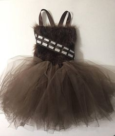 ADORABLE Chewbacca Tutu Dress, Girls Toddler Dress, Star Wars, Comic ComicCon - Star Wars Gifts MAY THE STAR WARS DRESSES BE WITH YOU!  ...  #starwars