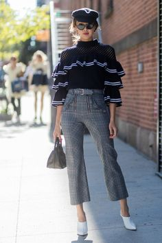 New York Fashion Week street style #newyorkfashion,