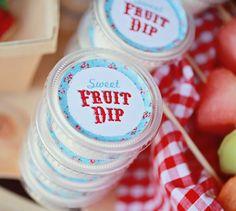 "Small Sticker ""Sweet Fruit Dip"". Farmer's Market Collection."