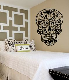Sugar Skull Decal Sticker Wall Vinyl Day of the Dead by BoopDecals, $24.00