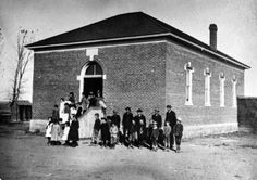 Teaching in the 1800's  Western History/Genealogy Department, Denver Public Library  This photograph, taken in 1880, shows the Arvada School, a one room schoolhouse in Jefferson County, Colorado.