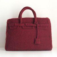 Crochet Birkin homenaje en ganchillo a Hermès