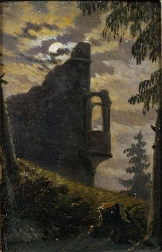 Moonlight behind a Castle Ruin with Alcove Carl Gustav Carus - Date unknown