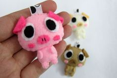 Cute+Pig+Keychain/Ornament+Magnet++Chloe+Piglet+Penny+by+araleling,+$7.00