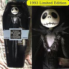 Vintage Rare 1993 Applause Jack Skellington Nightmare Before Xmas Poseable  Doll