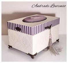 "Купить Шкатулка ""Балет"" - шкатулка, шкатулка для украшений, шкатулка декупаж, кисть ручной работы, сливочный Tissue Box Crafts, Tissue Boxes, Box Picture Frames, Cigar Box Crafts, Fabric Covered Boxes, Jewellery Boxes, Decoupage Paper, Sewing Box, Diy Box"