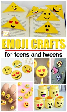 Kids will love celebrating with these happy and fun emoji crafts and emoji activities for kids! The perfect tween crafts and summer activities for kids!