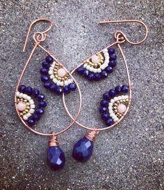 31 отметок «Нравится», 11 комментариев — K Dee Designs Jewelry (@kdeedesigns) в Instagram: «Sometimes I like navy better then black. Will be posting these on etsy later today #lapis #copper…»