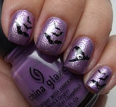 Halloween Nails stamping (woth bundle monster 2011 collection)