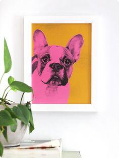DIY pet pop art inspired by Andy Warhol