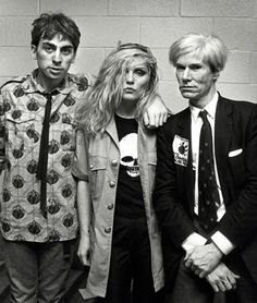 Chris Stein and Debbie Harry of Blondie with Andy Warhol | 1982 | Photographed by Ron Galella