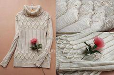 Хорошенький свитерок спицами. Схемы вязания