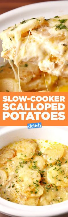 Slow-Cooker Scalloped Potatoes is the side dish that doesn't take up valuable oven space. Get the recipe on Delish.com.