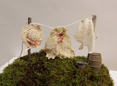 Fairy Garden Accessories Miniature Clothesline with Clothes Fairy Kit Woodland Fantasy Wash Line Miniature Clothes Vintage Lace and Silk Elf Doll, Fairy Clothes, Fairy Garden Accessories, Miniture Things, Fairy Houses, Garden Gifts, Vintage Lace, Party Time, Washing Lines