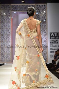 Model Displaying designer Manish Malhotra sarees at Wills Fashion Week Autumn/Winter