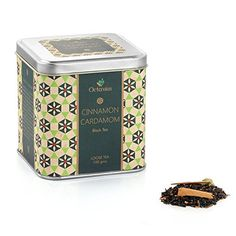 Octavius Black Tea With Cinnamon & Cardamom Flavour In Tin Box Ceylon Cinnamon, Masala Chai, Tin Boxes, Drinking Tea, Healthy Drinks, Beverages, Decorative Boxes, Gifts, Store