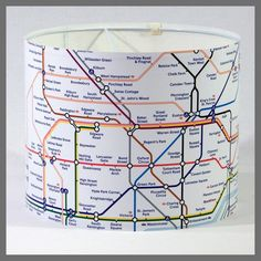 Underground - London Tube Map Lampshade £35 from Sasparilla Design via Etsy