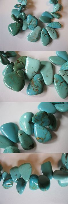 Turquoise 10284: Sleeping Beauty Turquoise Petal Beads -> BUY IT NOW ONLY: $40.0 on eBay!