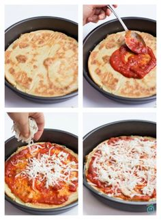 Quinoa pizza crust. Double the amounts and add 1/2 tsp of baking soda. Blend in single serve cup