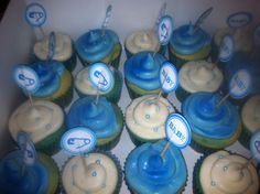 Cupcakes for a coworkers baby shower Cake Cookies, Cupcakes, Baby Shower Cakes, Cake Pops, Desserts, Food, Cakes Baby Showers, Cake Pop, Tailgate Desserts