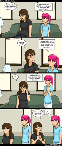 Questionable Content - by Jeph Jacques - A comic about the three R's:  Romance, Robots, and Rock.