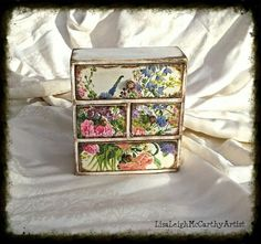 Decoupage Jewellery Box Shabby Elegance by ArtelisaGiftBoutique http://www.etsy.com/shop/ArtelisaGiftBoutique