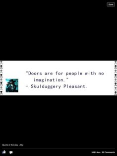 one of my favorite quotes~ Skulduggery Pleasant