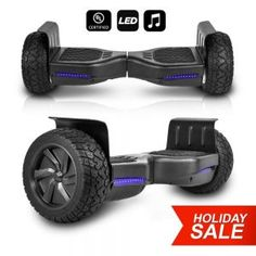 CHO All Terrain Black Rugged Inch Wheels Hoverboard Off-Road Smart Self Balancing Electric Scooter LED Lights Certified (Black) by Tonika Electronics Technology (Yichun) Co Ltd comes with special price at our store. Offroad, Balance Art, Balance Bike, Scooters For Sale, Ride On Toys, Rubber Tires, Good And Cheap, Buyers Guide, Electric Scooter
