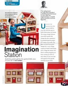 Toy House Plans - Wooden Toy Plans
