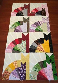 Make this dual baby quilt and diaper tote project! Use Charms x squares) to create this diaper bag and baby quilt. Patch Quilt, Quilt Blocks, 24 Blocks, Paper Piecing, Quilting Projects, Quilting Designs, Cat Quilt Patterns, Feather Stitch, Bird Quilt