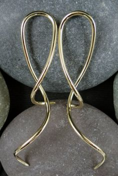 Little Seven Brand Pair of Stainless Steel Ansaris 12g Medium