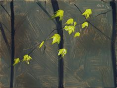 """Alex Katz, 'Yellow Leaves #2,' 2006, really great study - oil on board, 9"""" x 12"""""""
