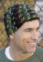 Crochet Beginner Cap~~ Made some in cammo & in black. X-Mas gifts & the guys loved them.
